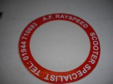 AF rayspeed   tax disc holders  (red)